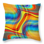 Yellow Road Throw Pillow