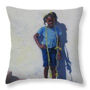 Yellow Rope Throw Pillow