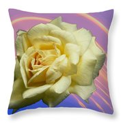 Yellow Rose 3 Throw Pillow