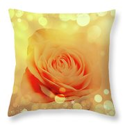 Yellow Rose And Joy Throw Pillow