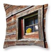 Yellow Rose Eclipse Throw Pillow