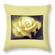 Yellow Rose Smoky Misty Look Throw Pillow