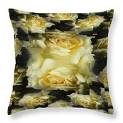 Yellow Roses 2 Throw Pillow