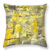 Yellow Sadness Throw Pillow