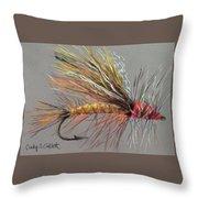 Yellow Sally Stonefly Throw Pillow