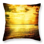 Yellow Sea Throw Pillow