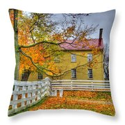 Yellow Shaker House 4 Throw Pillow