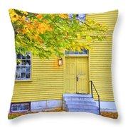Yellow Shaker House Throw Pillow