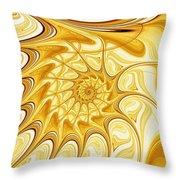 Yellow Shell Throw Pillow