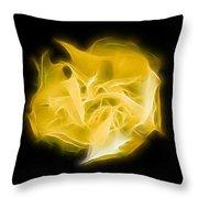 Yellow Solar Plexus Chakra Throw Pillow