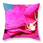 Yellow Spider Throw Pillow