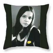 Yellow Spot Throw Pillow