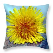 Yellow Spring Throw Pillow