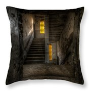 Yellow Stairs Throw Pillow