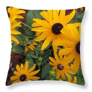 Yellow Stant Out Throw Pillow