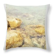 Yellow Stone Of Livadh Throw Pillow