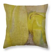 Yellow Strands Throw Pillow