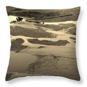 Yellow Streams In The Lot Throw Pillow