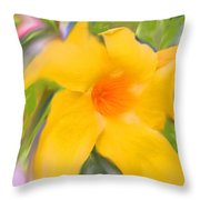Yellow Stretch Throw Pillow