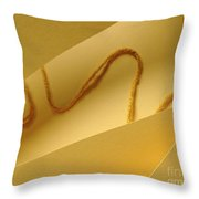 Yellow String Throw Pillow
