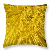 Yellow Strings Throw Pillow