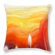 Yellow Sunlight Abstract Art Throw Pillow
