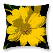 Yellow Sunshine Work Number 8 Throw Pillow