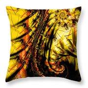 Yellow Symbol Design Throw Pillow