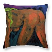 Yellow Three Throw Pillow