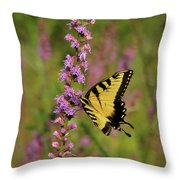 Yellow Tiger Throw Pillow