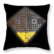 Yellow Tip Throw Pillow