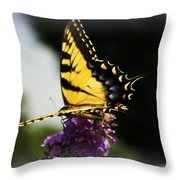 Yellow Touch Throw Pillow