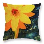 Yellow Treat Throw Pillow