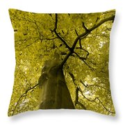 Yellow Tree Throw Pillow