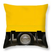 Yellow Truck Throw Pillow by Carlos Caetano