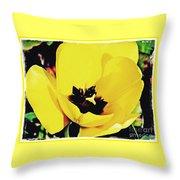 Yellow Tulip 2 Throw Pillow