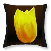 Yellow Tulip 3 Throw Pillow