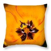 Yellow Tulip - Close Up Throw Pillow