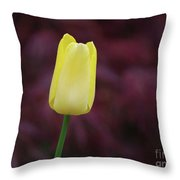 Yellow Tulip Perfection Ready To Blossom Throw Pillow