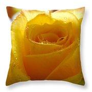 Yellow Valentine Roses - 4 Throw Pillow