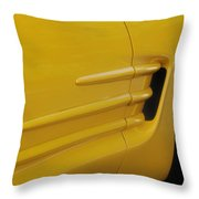 Yellow Vette Throw Pillow