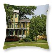 Yellow Victorian-horizontal Throw Pillow