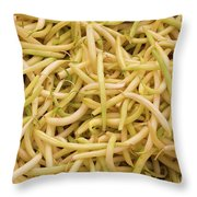 Yellow Wax Beans Throw Pillow