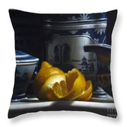 Yellow White Blue Throw Pillow