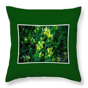 Yellow Wild Flowers In Late Summer Throw Pillow