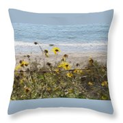 Yellow Wildflowers- Art By Linda Woods Throw Pillow