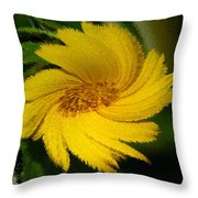 Yellow Wonder Throw Pillow