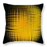 Yellow Word  Throw Pillow