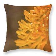 Yellow Xmas Tree Throw Pillow