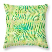 Yellow Zebra Print Throw Pillow